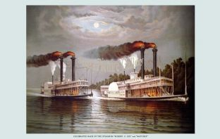 Steamers - Robert E Lee & Natchez